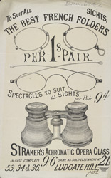 Advert for Straker's Opticians